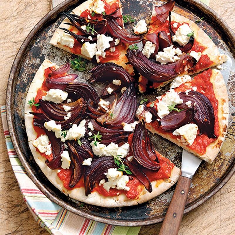 Photo de Pizza aux oignons et au vinaigre balsamique prise par WW