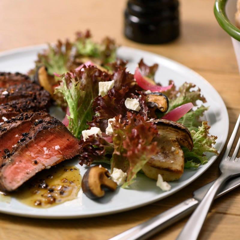 Foto Steaksalat mit Pilzen von WW