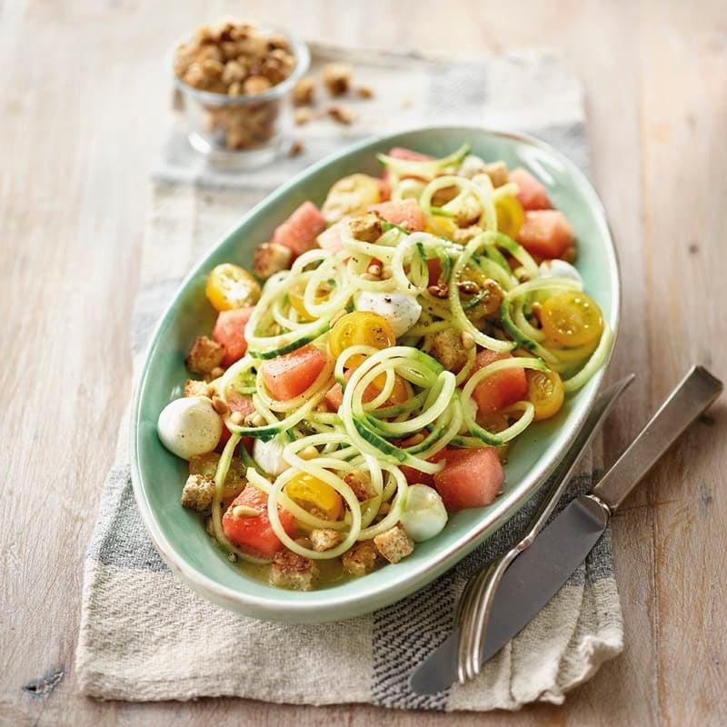 Photo de Salade de concombre à la pastèque et à la mozzarella prise par WW