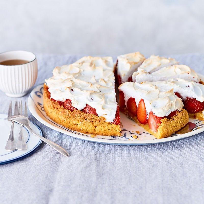 Foto Erdbeer-Meringue-Kuchen von WW