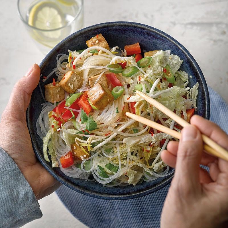 Photo de Salade de nouilles de riz et tofu au sésame prise par WW