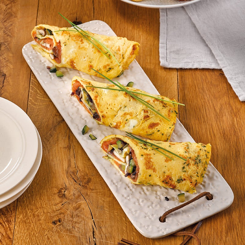 Photo de Roulades d'omelette au saumon prise par WW