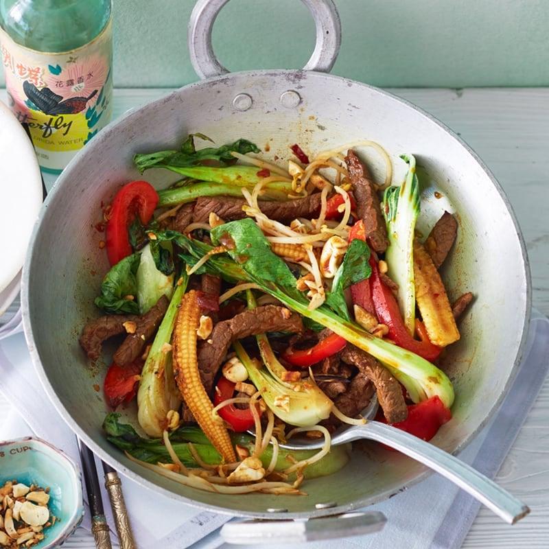 Photo de Wok de légumes et boeuf en lamelles prise par WW