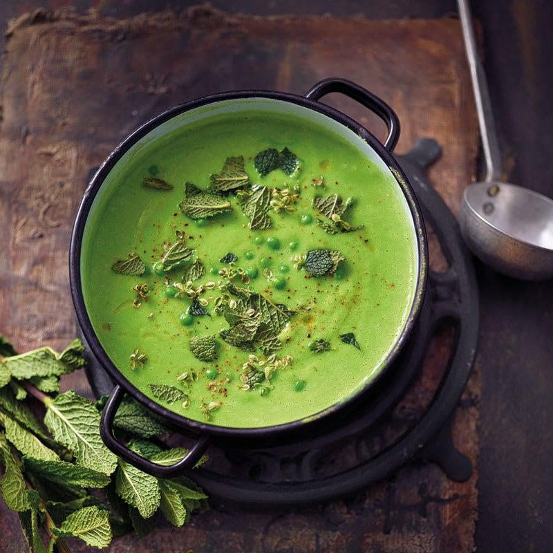 Photo de Soupe aux petits pois frais prise par WW