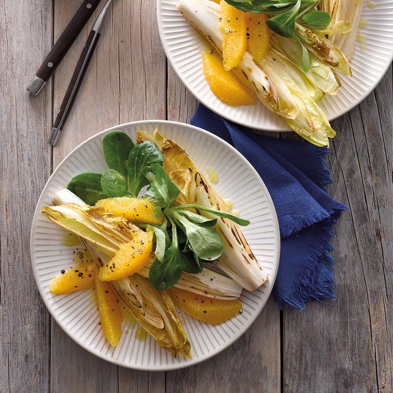 Foto Gerösteter Chicorée-Orangen-Salat von WW