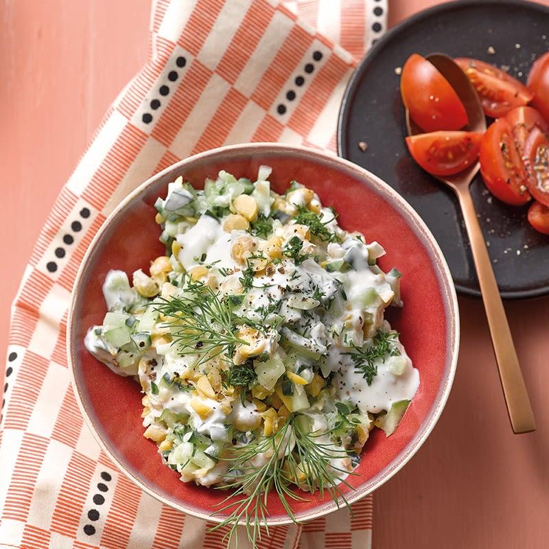 Foto Kichererbsen-Gurken-Salat von WW