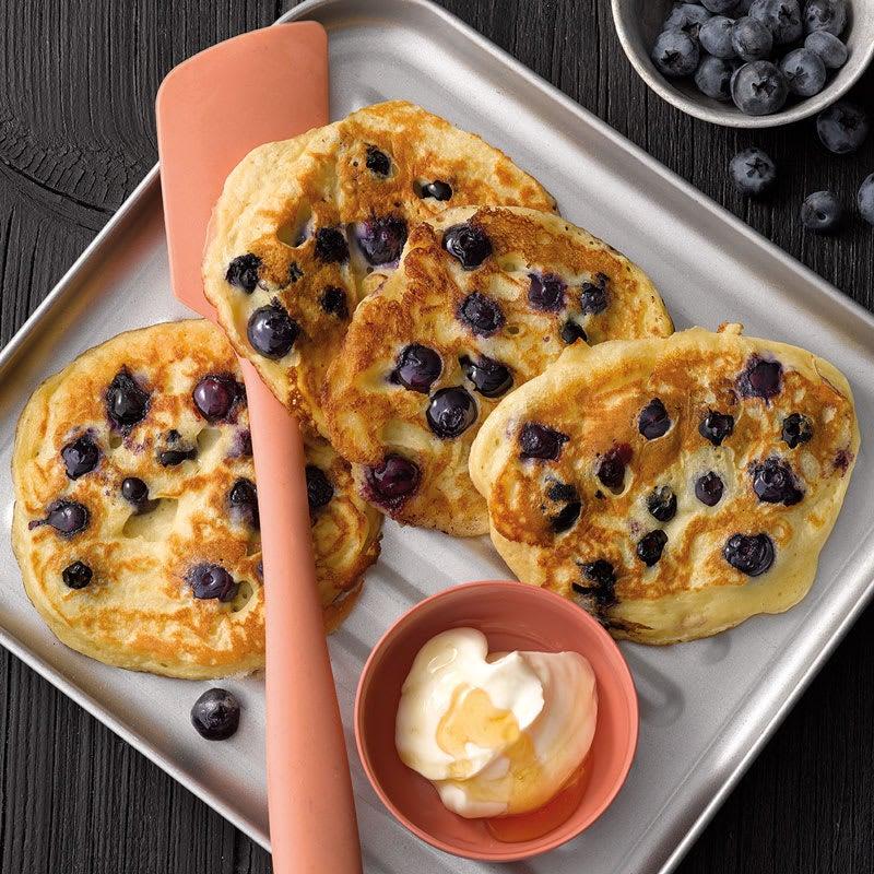 Photo de Pancakes au babeurre et aux myrtilles prise par WW