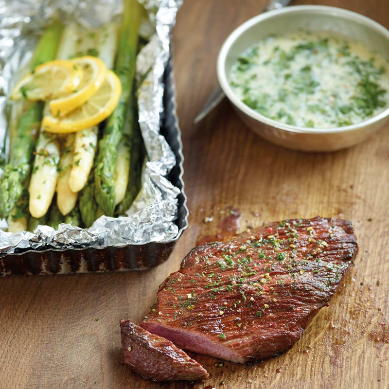 Photo de Steak de boeuf et papillote d'asperges prise par WW