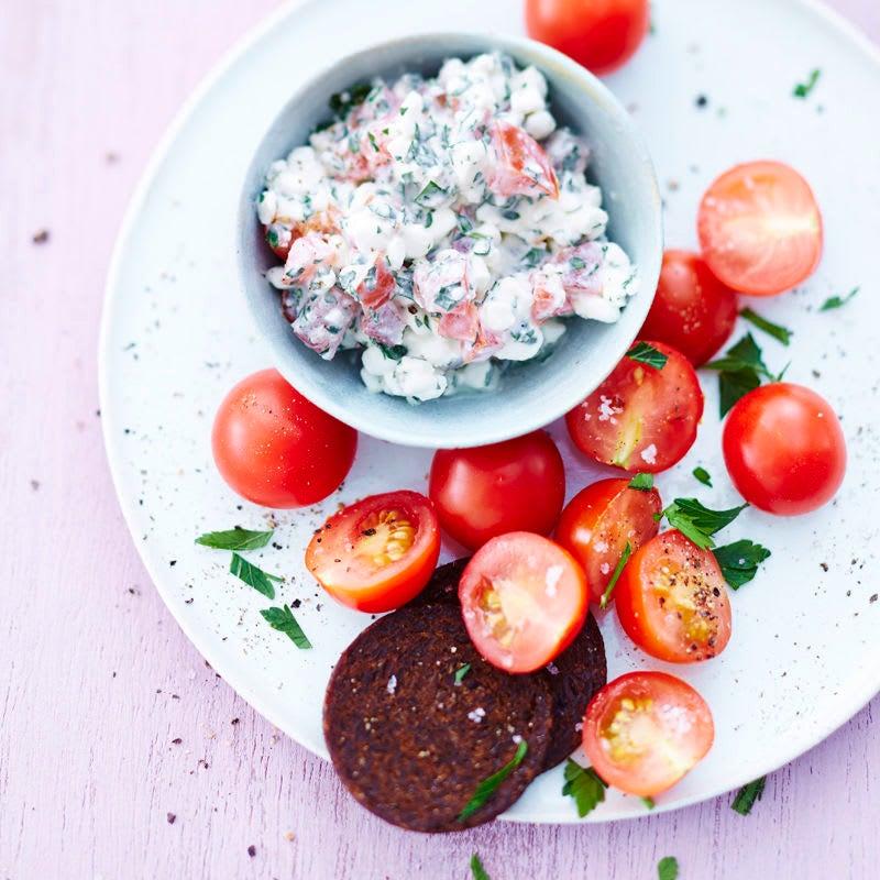Foto Hüttenkäse-Tomaten-Snack von WW
