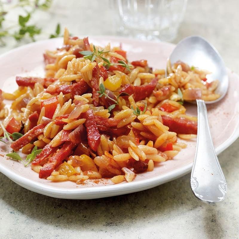 Foto Risoni-Risotto mit Chorizo und Peperoni von WW