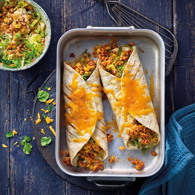 Photo de Burritos gratinés au poulet et maïs prise par WW