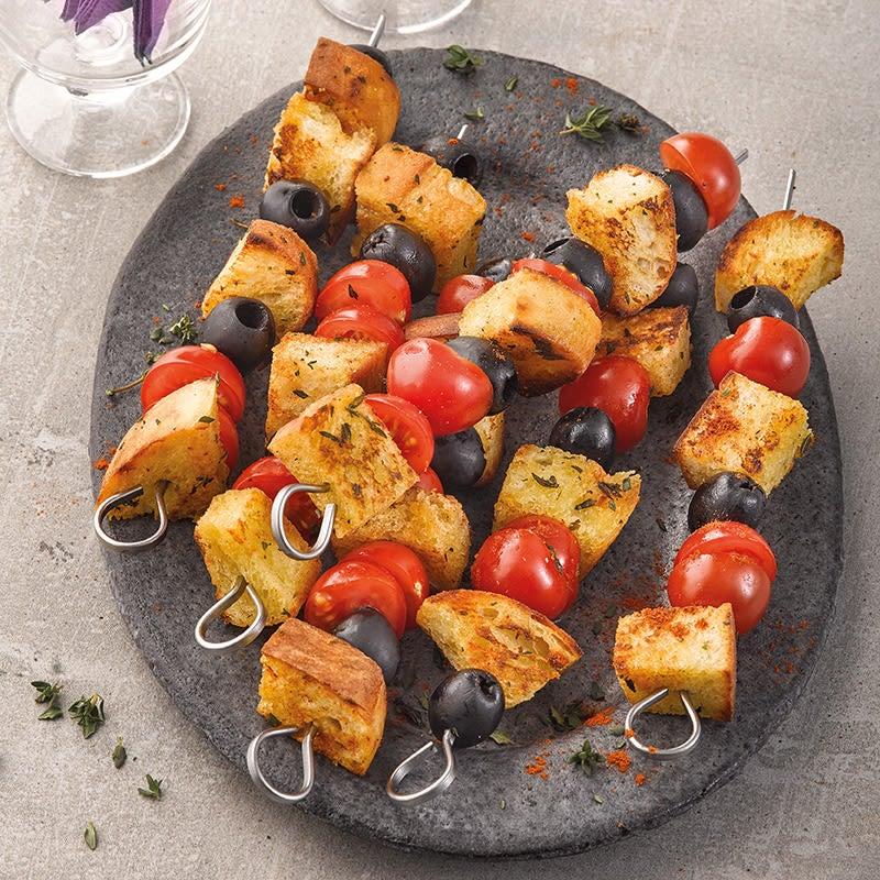 Photo de Brochettes de pain rôti aux olives prise par WW