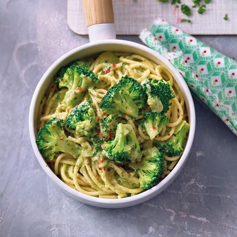 Photo de Spaghettis sauce brocoli et fromage prise par WW