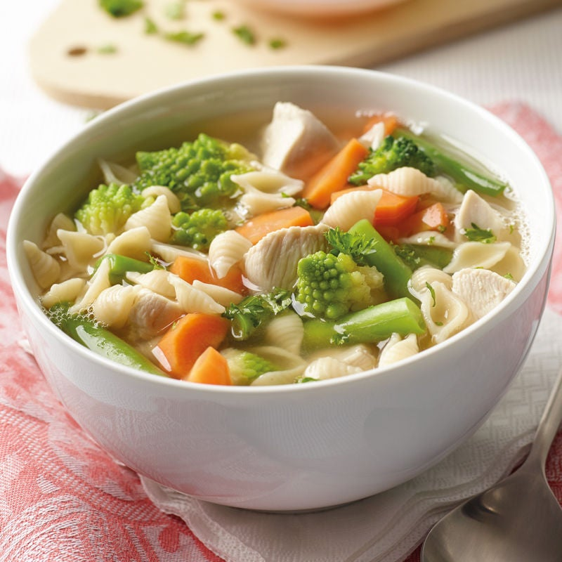 Photo de Soupe aux coquillettes et au poulet prise par WW