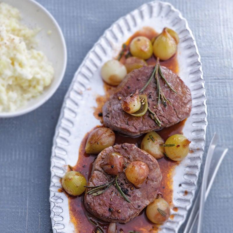 Photo de Filet de bœuf et sa purée de pommes de terre au céleri prise par WW