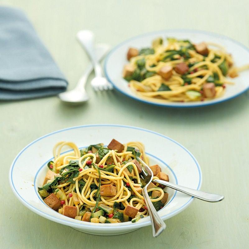 Photo de Spaghettis aux légumes et au tofu prise par WW