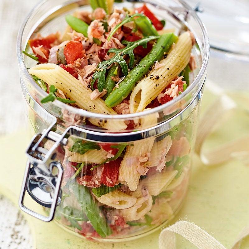 Photo de Salade de penne aux haricots et au thon prise par WW