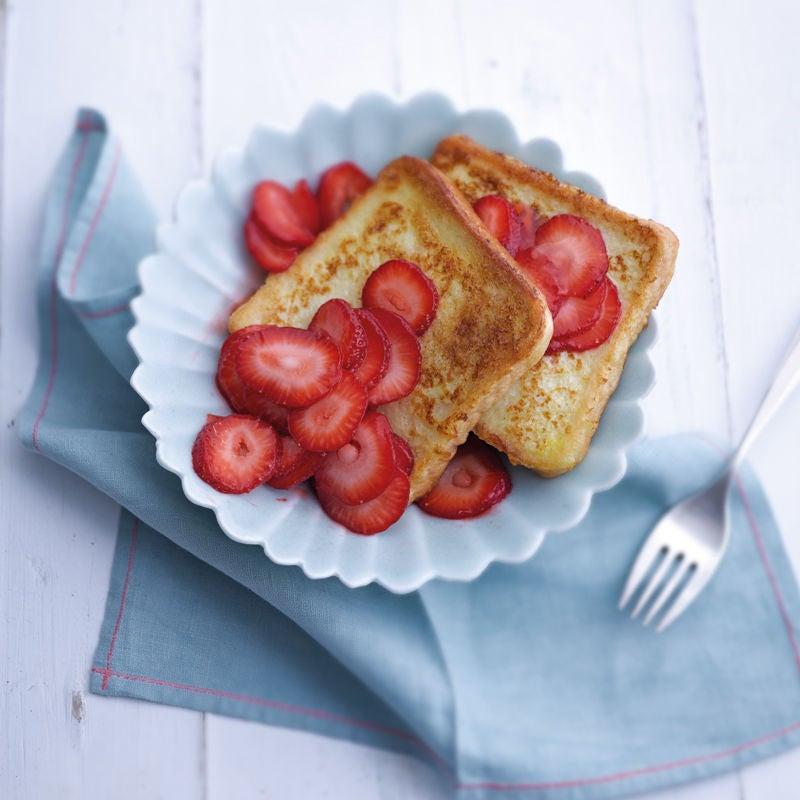 Photo de Tranches de pain à la cannelle et fraises prise par WW