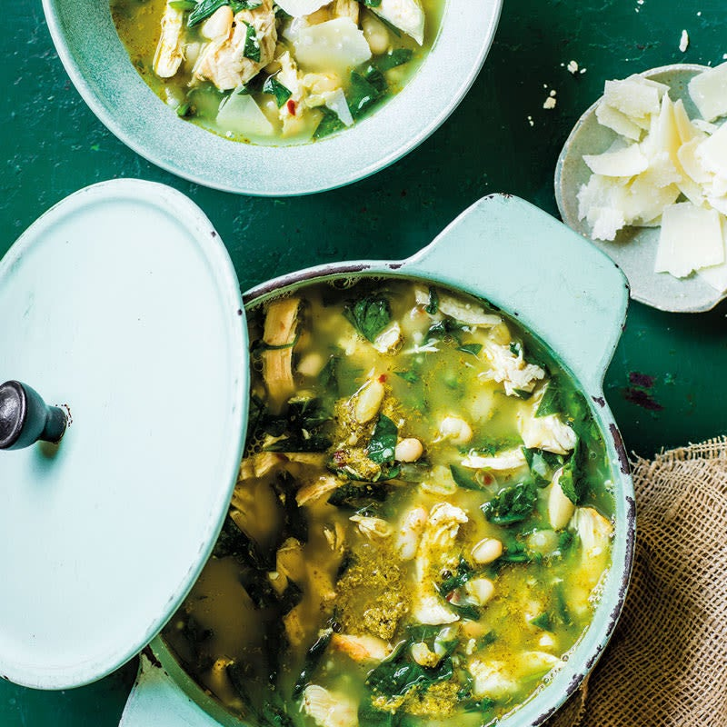 Foto Wärmende Pesto-Poulet-Suppe von WW