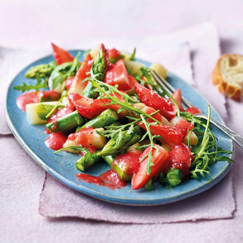 Photo de Salade d'asperges et sa sauce aux fraises prise par WW