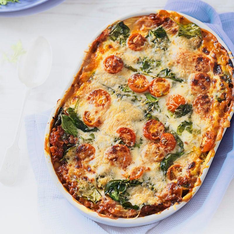 Photo de Lasagnes d'épinards et de tomates aux lentilles prise par WW