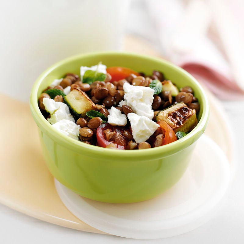 Photo de Salade de lentilles aux courgettes et à la feta prise par WW