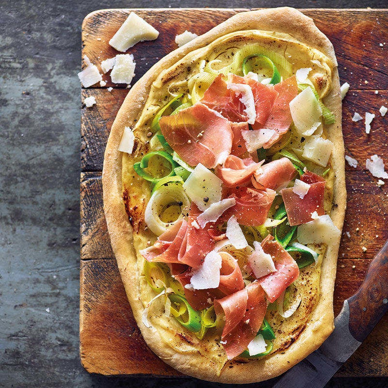 Photo de Mini-pizza croustillante au jambon Serrano prise par WW