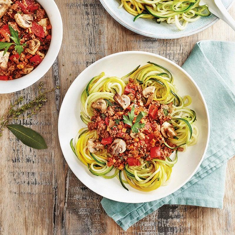 Photo de Spaghettis de courgettes sauce bolognese prise par WW