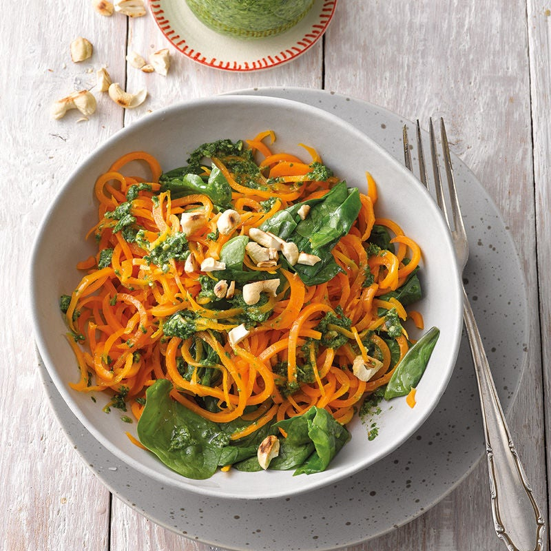 Photo de Spaghetti de carottes au pesto d'épinards prise par WW