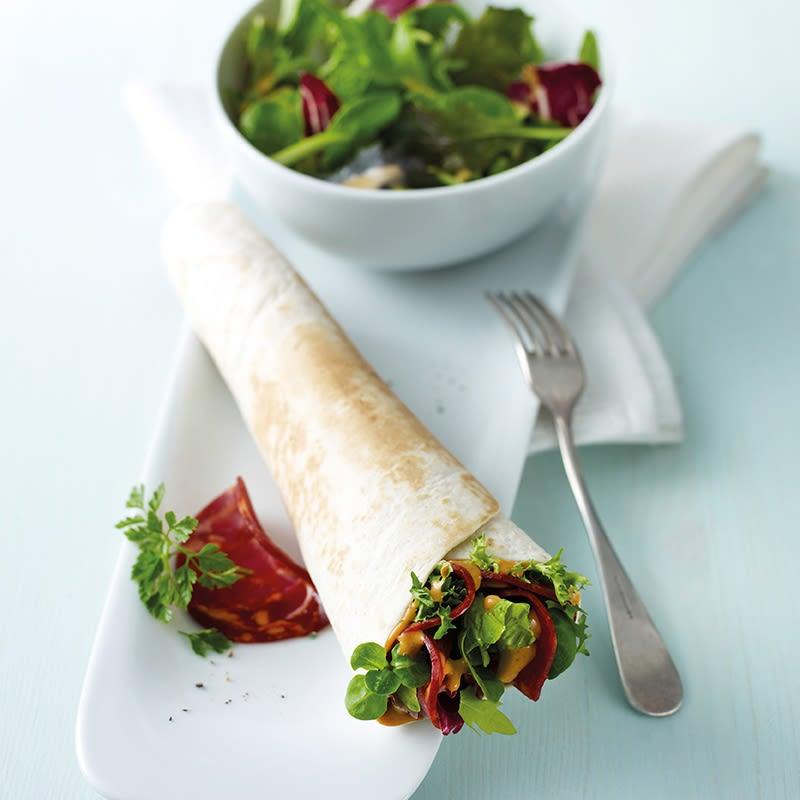 Foto Chorizowrap mit Salat von WW