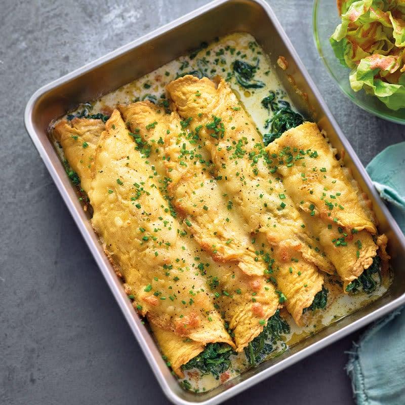 Foto Omelette-Cannelloni mit Spinatfüllung von WW