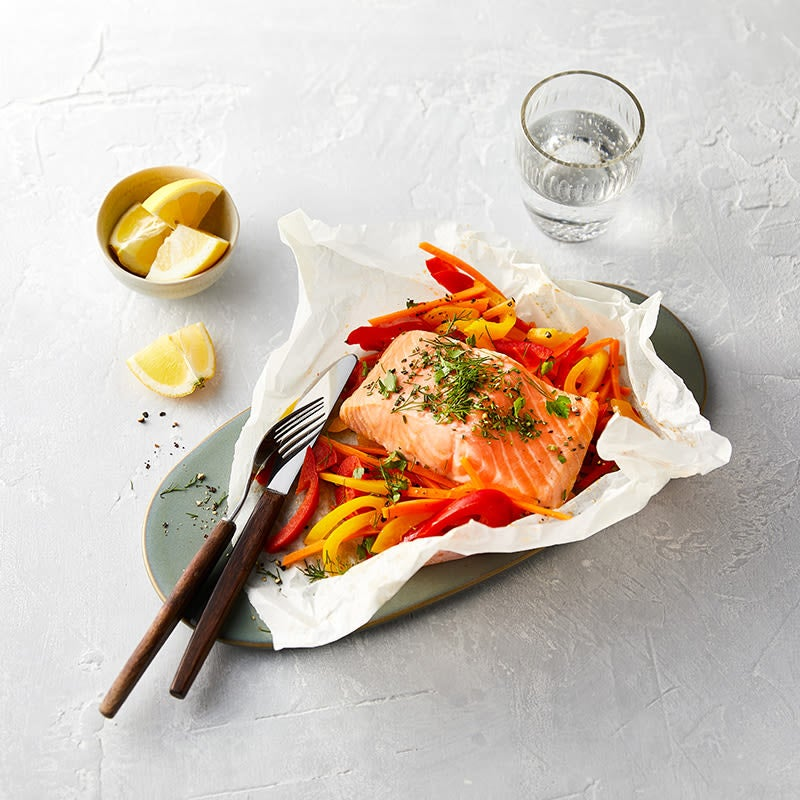 Photo de Saumon sur lit de légumes prise par WW