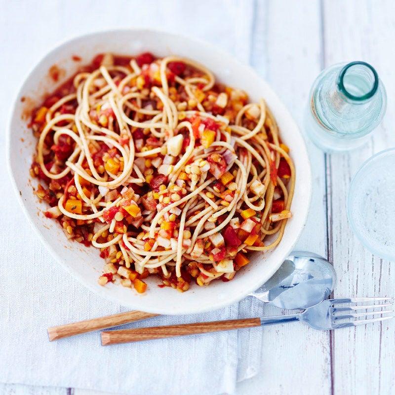 Photo de Spaghetti à la bolognaise aux lentilles prise par WW