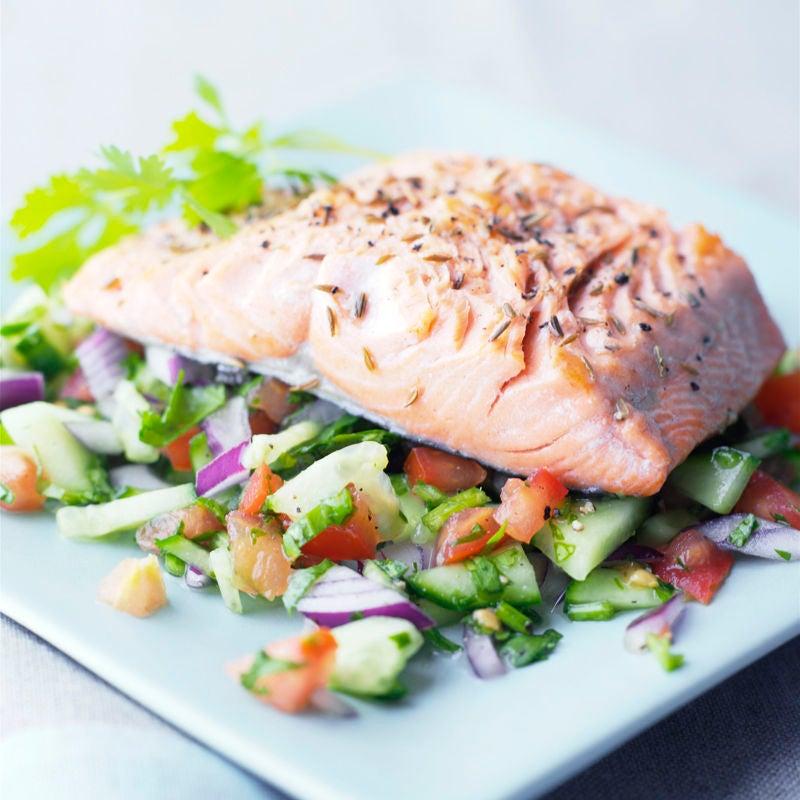 Photo de Filet de saumon et relish de concombre prise par WW