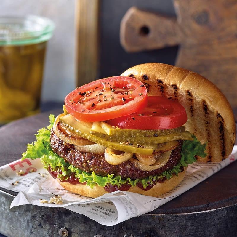 Photo de Burger épicé aux oignons poêlés prise par WW