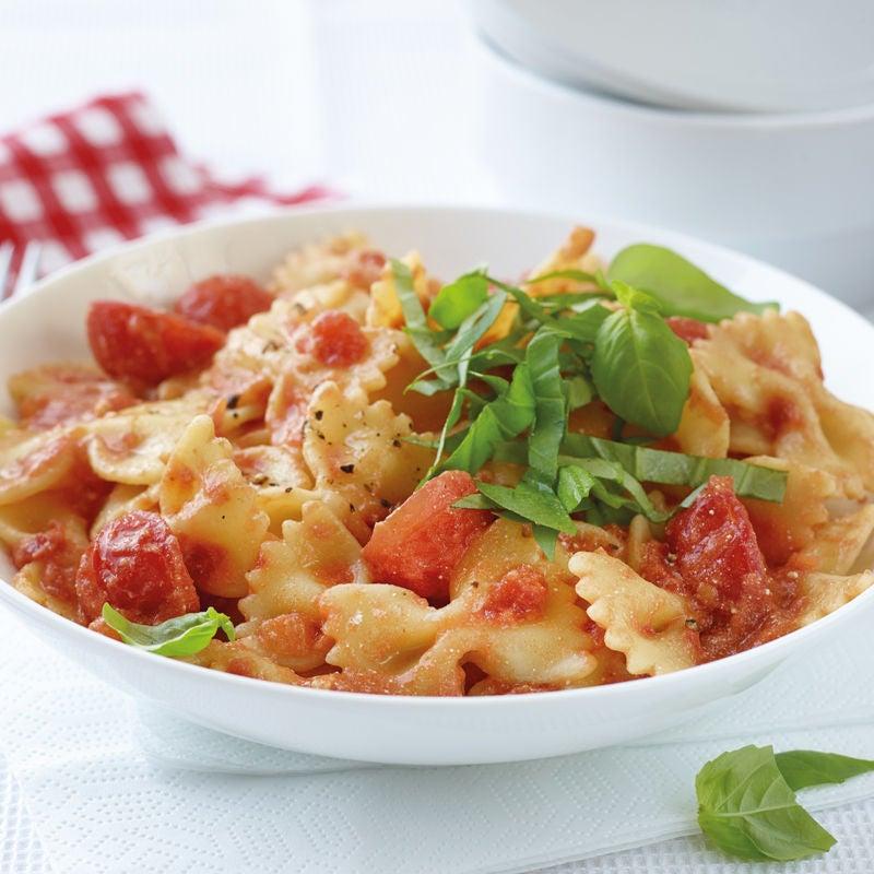 Foto Farfalle mit Tomaten-Ricotta-Sauce von WW