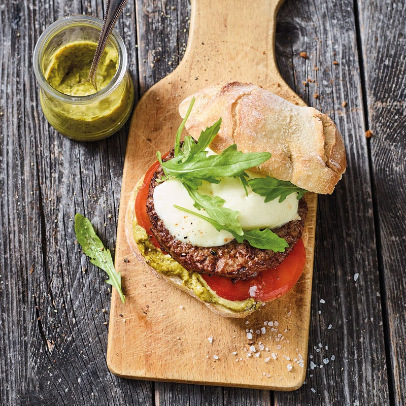 Photo de Burger tomate-mozzarella au pesto prise par WW