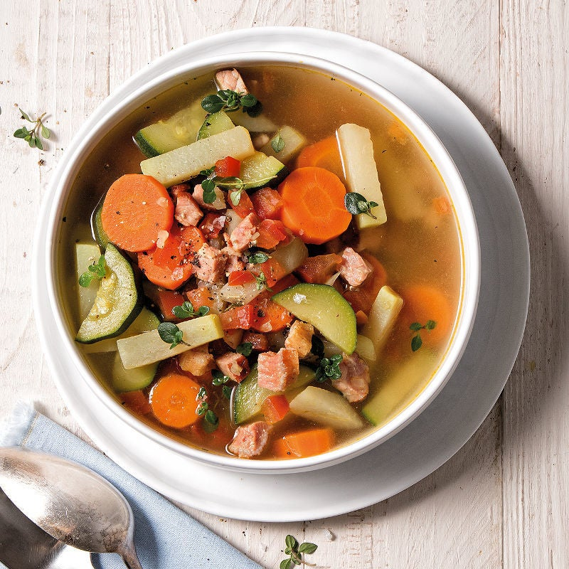Photo de Soupe aux légumes avec longe de porc fumée prise par WW