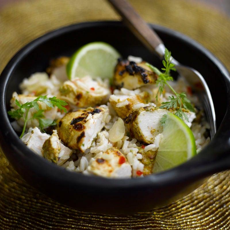 Photo de Salade de riz orientale au poulet mariné prise par WW