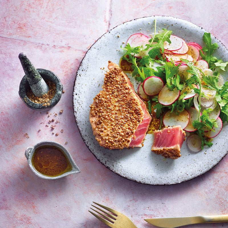 Photo de Thon à la coriandre et salade épicée prise par WW