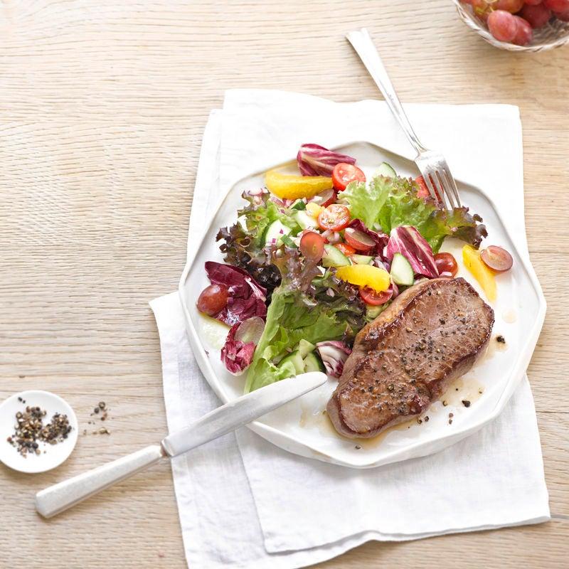 Photo de Tranche de boeuf sur salade prise par WW