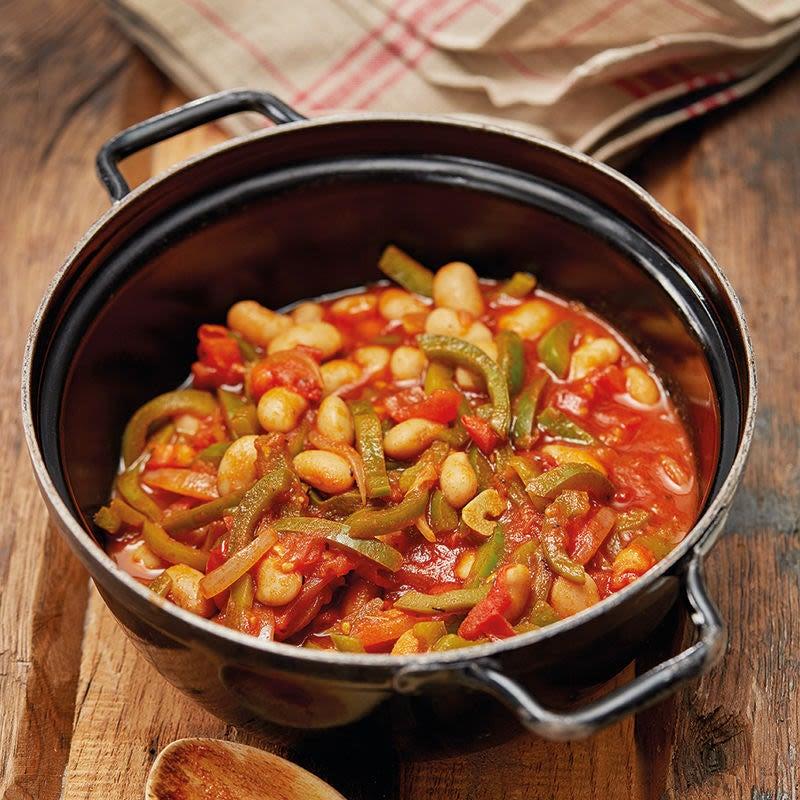 Foto Bohnen-Peperoni-Eintopf mit Tomaten von WW