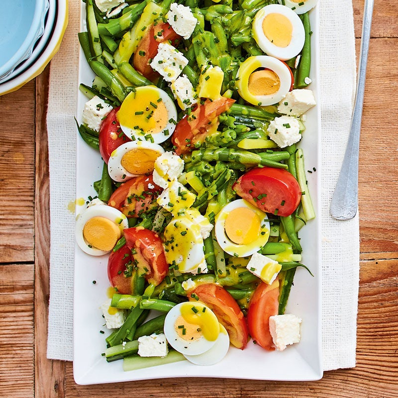 Foto Eiersalat mit grünen Bohnen von WW