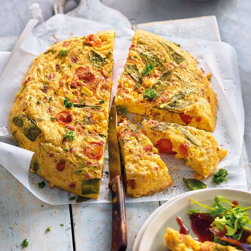 Foto Spätzli-Gemüse-Tortilla mit Schinken / Spätzle-Gemüse-Tortilla mit Schinken von WW
