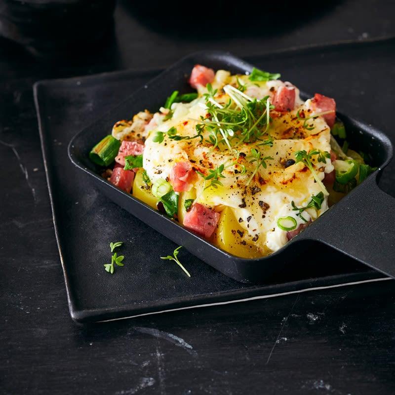 Photo de Raclette pommes de terre-flammekueche prise par WW