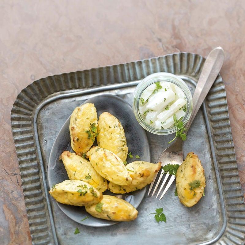 Foto Kartoffel-Kräuter-Nocken mit Rahmkohlrabi von WW