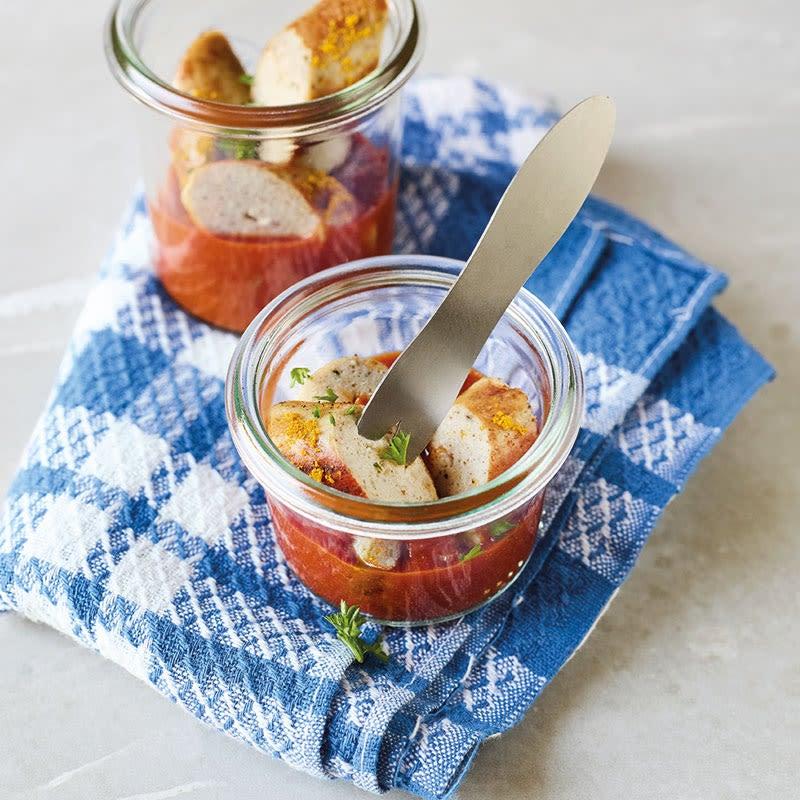 Foto Currywurst im Glas von WW