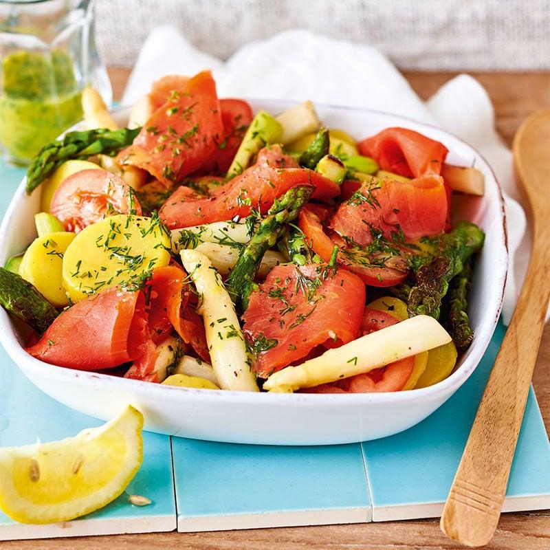 Photo de Salade d'asperges au saumon prise par WW
