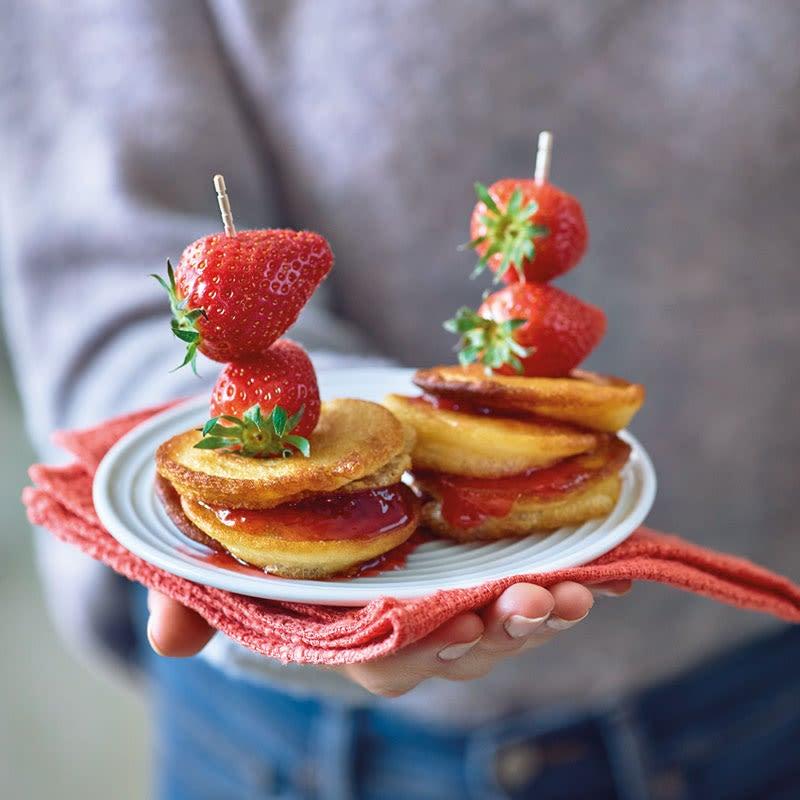 Foto Pancake-Spiesse mit Erdbeeren / Pancake-Spieße mit Erdbeeren von WW