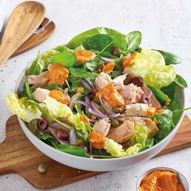 Photo de Salade de thon au pesto rouge prise par WW